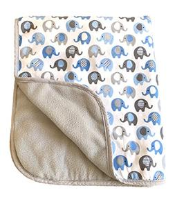Vera Elephant Cotton Fleece Baby Blanket