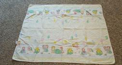 "Vintage 1983 Cabbage Patch Kids Baby Receiving Blanket 33"" x"