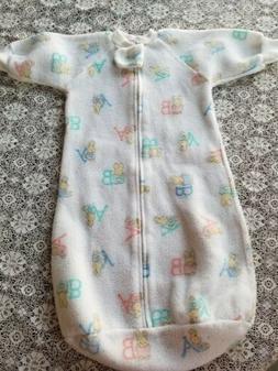 Vintage 90's Carter's Infant Fleece Sleep Sack Bunnies  One
