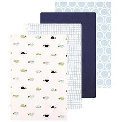 Baby Vision Luvable Friends Flannel Blanket 4 Pack - Turtles