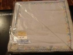Vtg Homestead 100 % Cotton Marshall Field Baby Blanket With
