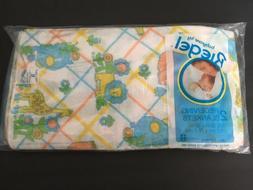 Vtg Riegel Baby Blanket Receiving Babycare Set of 2 NIP 30x3
