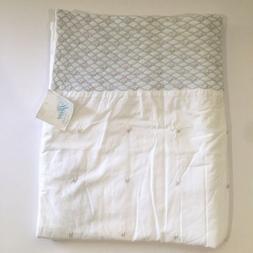 Vtg Sferra Baby Crib Blanket Pintuck & Rosettes 40x34 Egypti