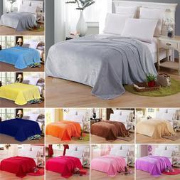 Warm Soft Mink Throw Large Fleece Sofa Bed Blanket Double Ki