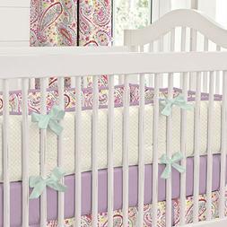 Carousel Designs Watercolor Paisley Crib Bumper