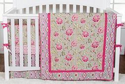 Waverly Jazzberry 3-Piece Nursery Crib Bedding Set By Trend