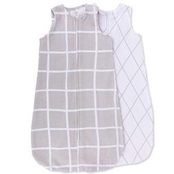 Ely's & Co. Wearable Blanket Baby Sleep Bag I Grey Grid