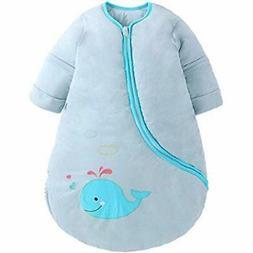 OuYun Wearable Blankets Baby Organic Detachable Sleeve Blank