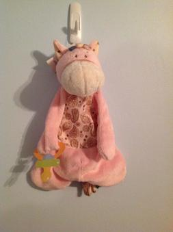 BABY GANZ Wee Western Pink Pony Pacifier Cozy Lovey Security