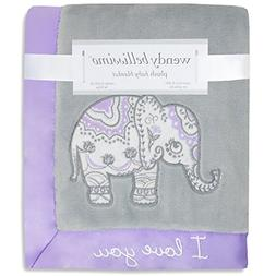 Wendy Bellissimo Super Soft Plush Baby Blanket - Elephant Ba
