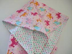 Western cowgirl horse,baby,infant,toddler flannel swaddle cr