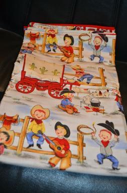 Western handmade flannel baby blanket NEW Baby Gift Cowboy C