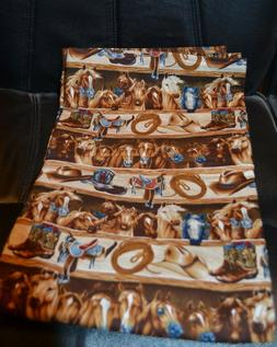 Western Saddle Boots Horse  flannel baby blanket NEW Baby