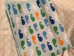 Whale's baby receiving blanket lap blanket beach blanket ove