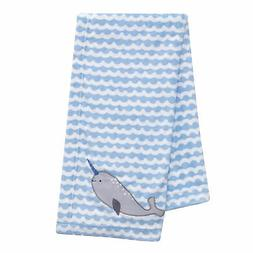 Bedtime Originals Whales Tale Blue/White Ocean Narwhal Soft