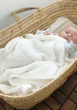White linen flax baby blanket Waffle linen cotton kids Soft