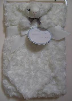 Lollypop White Swirl 2 Pc Lamb Sheep Easter Lovey Security a