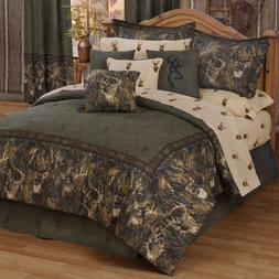 Browning Whitetail Deer Comforter Set with Sheet and Curtain