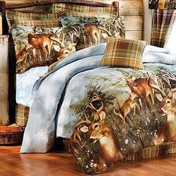 8pc Whitetail Deer Trophy Buck Comforter, Sheets, Pillow Sha