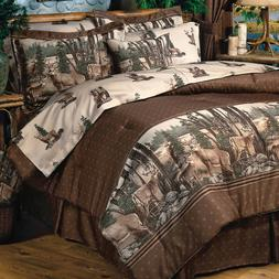 Whitetail Dreams Deer in Woods Comforter Bedding Set Add Ski
