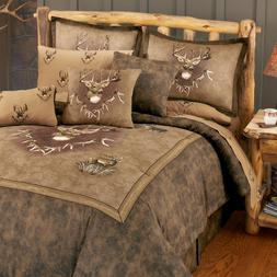 Whitetail Ridge Deer Comforter Set with Sheet and Curtain Op