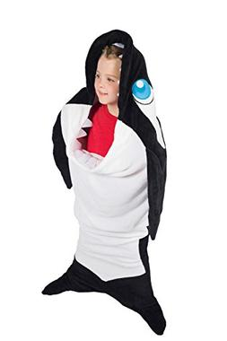 Fin Fun Wild Things Titan Orca Whale Climb-in Blanket by