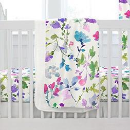 Carousel Designs Wildflower Garden Crib Blanket