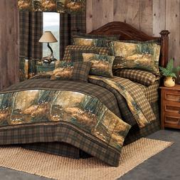 Wildlife Comforter Bedding Set Whitetail Deer Birch Trees by