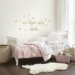 New Levtex Baby Willow Gold Dot Pink 5 Piece Toddler Bedding