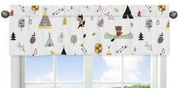 Window Valance Curtain For Sweet Jojo Aqua Gray Outdoor Adve
