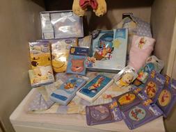 Winnie Pooh Baby Set, Handmade Blanket, Pillow, Sheet Set, N