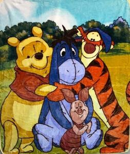 Winnie the Pooh & Me Eeyore Piglet Tigger 40x50 Mink Style B