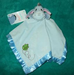 Disney Baby Winnie The Pooh Eeyore Security Blanket Blue NWT