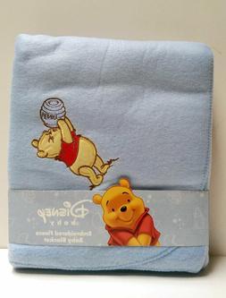 "Disney Winnie The Pooh Embroidered Baby Fleece Blanket 30""x4"