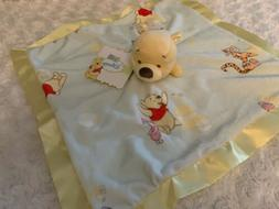 DISNEY Baby WINNIE THE POOH HOLDING SECURITY BLANKET LOVEY 1