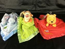 Disney Baby Winnie The Pooh Lovey Blankee Satin Security Bla