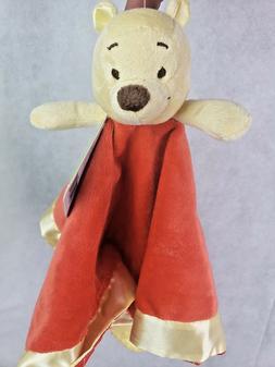 Disney Winnie the Pooh Lovey Security Blanket Red Yellow Tee