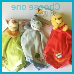 Disney Baby Winnie The Pooh Security Blanket Lovey Eeyore Ti