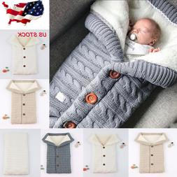 Winter Warm Swaddle Wrap Sleeping Bag for Newborn Infant Bab