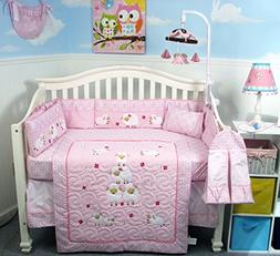 SOHO Wolly Sheeps Crib Nursery Bedding Set 14 pcs