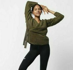 Nike Women's Long Sleeve Sherpa Training Wrap Top 929839-3