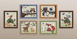 Woodland Animal Tales Nursery Art Prints  Set of Six)