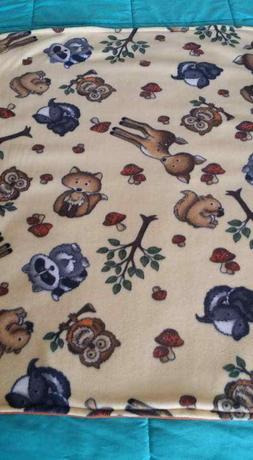 woodland animals fleece baby blanket