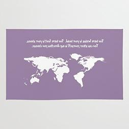 Society6 World Map With Dr. Seuss Quote Rug 4' x 6'