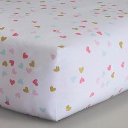 Circo Woven Fitted Crib Sheet - Sweet Kitty