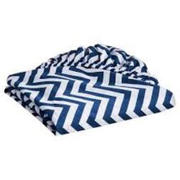 Circo Woven Fitted Crib Sheet - Chevron - NAVY BLUE  Baby Co