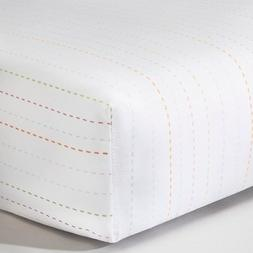 Circo™ Woven Fitted Crib Sheet - Stitch Stripe