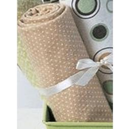 Carter's wrap-me-up receiving blanket-brown/sage circles