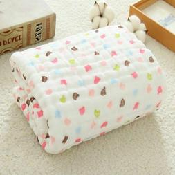 Muslin Swaddle Baby Blankets Cotton Wrap for Newborn Babies