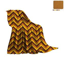 Yellow Chevron Super Soft Lightweight Blanket Chevron Patter